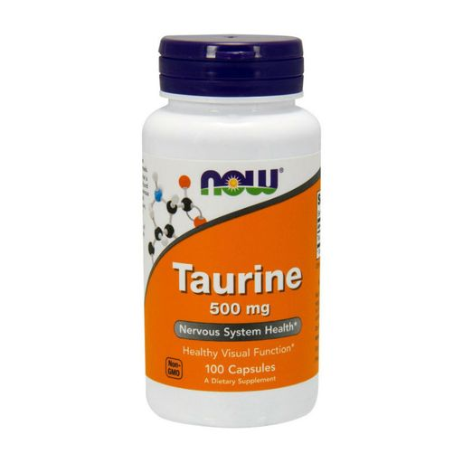 NOW Taurine Таурин, 500 мг, капсулы, 100 шт.